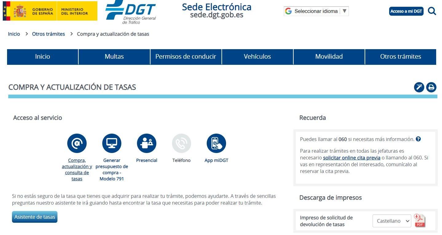 Modelo 791 | DGT | Descargar tasas tráfico | PDF | Para rellenar